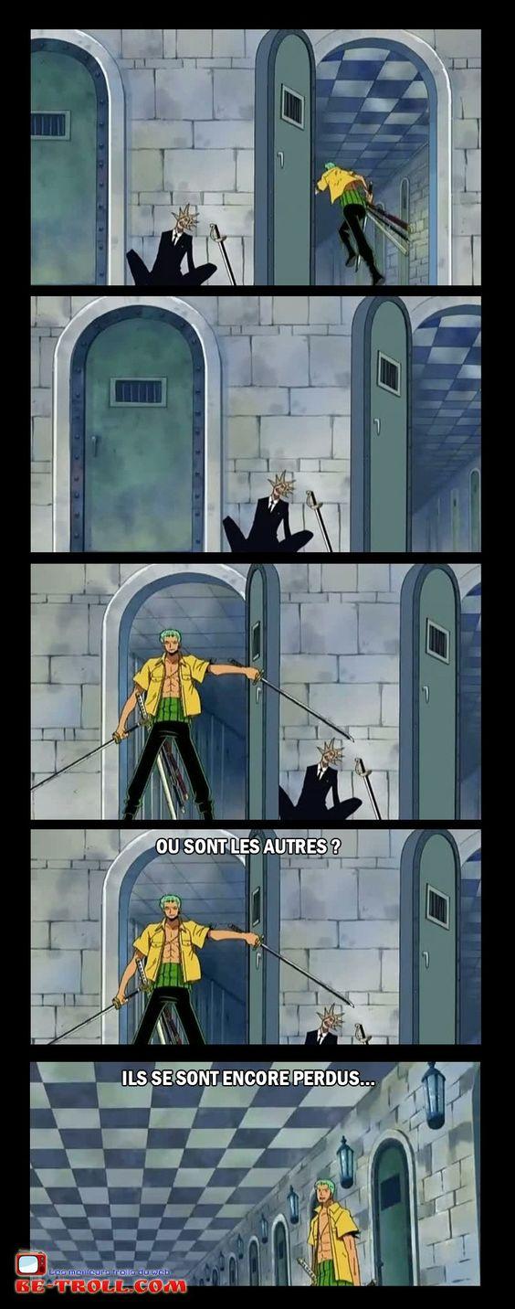 Ou sont les autres ? Ils se sont encore perdus... #Zorro #Luffy