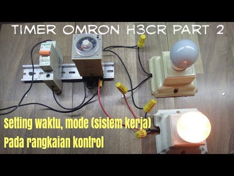 Cara setting timer listrik omron h3cr - part 2 - YouTube on