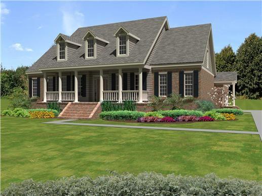 Symmetrical southern house plans