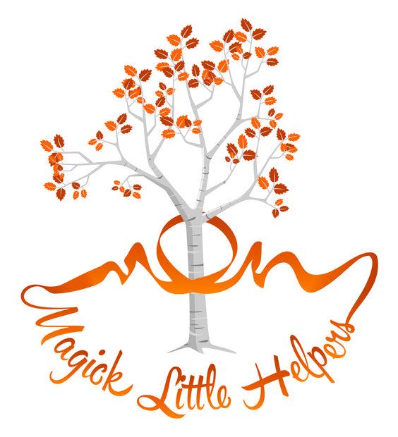 #logo #MagickLittleHelpers #unique #design #Britishhanddrawn #organiccandles #Birchtree
