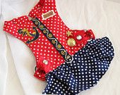 Small Dog Harness  - Dots and Yachts Harness Dress