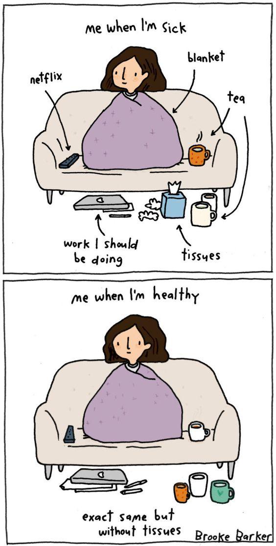 Brooke Barker sick vs healthy