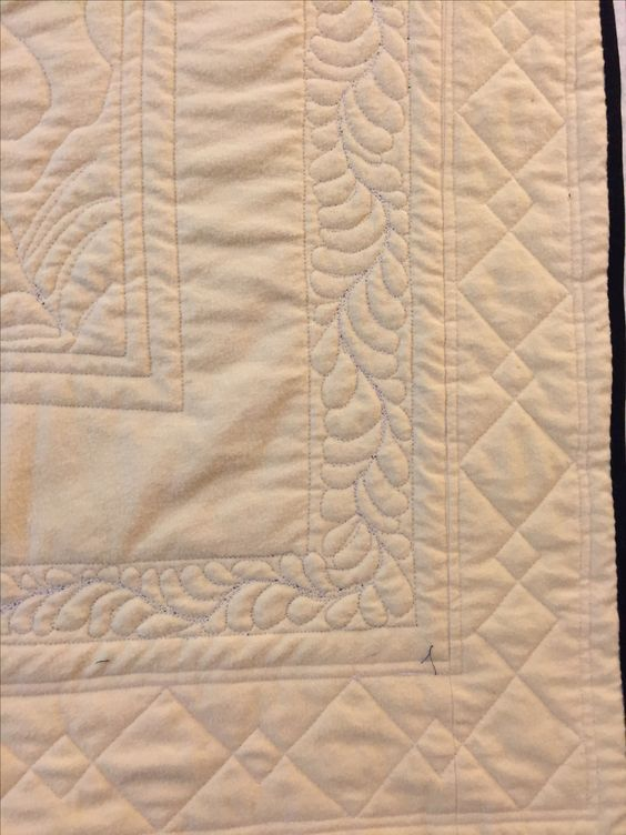 This Shows The Corner Detail Of My Machine Quilting On The Backing