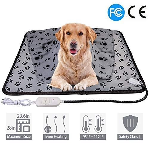 Wangstar X Large Pet Heating Pad Pet Heated Blanket Warm Pet Heat Mat For Dogs Cats With Chew Resistant Steel Cord Water Pet Heating Pad Heated Blanket Pets