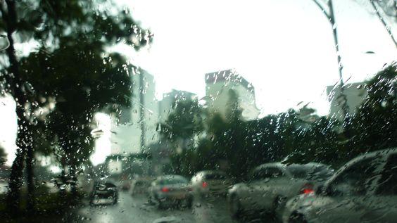 Lluvia, Paseo de la Reforma. Ciudad de México.