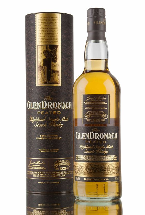 The first ever peated expression from GlenDronach whisky distillery. Created with a phenol level of 25 PPM, with the whisky starting it's life in ex-bourbon barrels before being finished in a combination of Oloroso and Pedro Ximenez sherry casks.