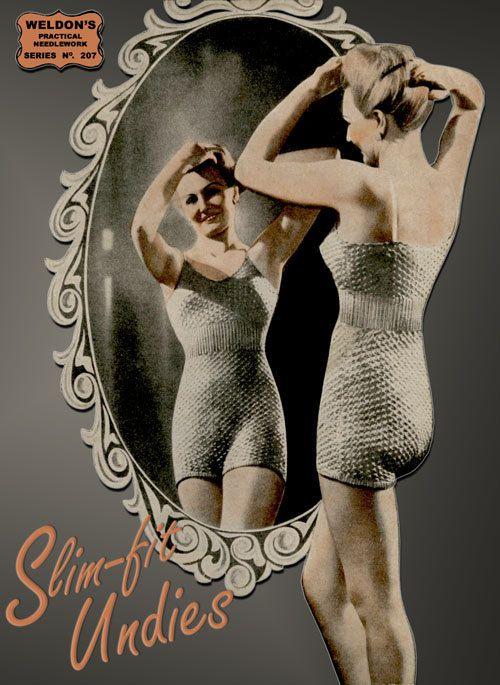 Weldon's 9D 207 c.1930's  Vintage Style Slim Fit Undies by ivarose