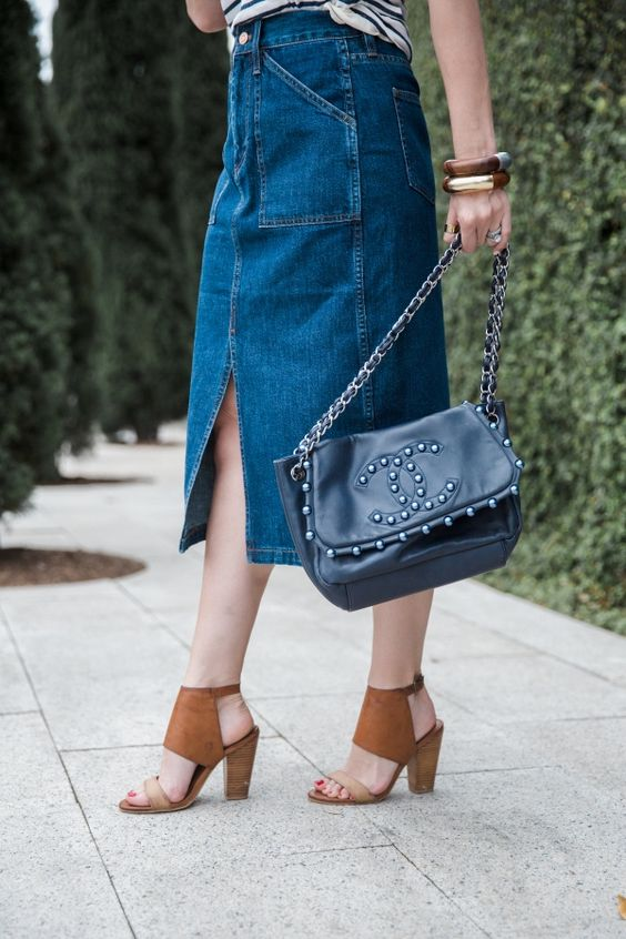 fashion throwback: how to style a denim skirt | Just Denim ...