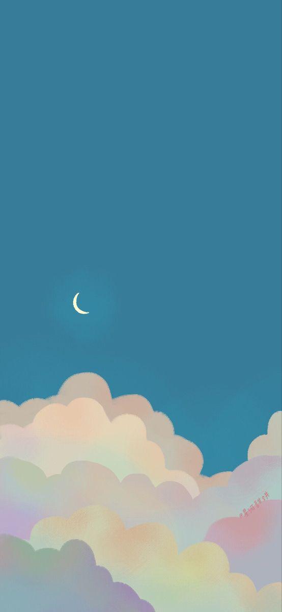 Pin Oleh Mieseyo Di Aesthetic Background Wallpaper Awan Clouds wallpaper iphone aesthetic awan