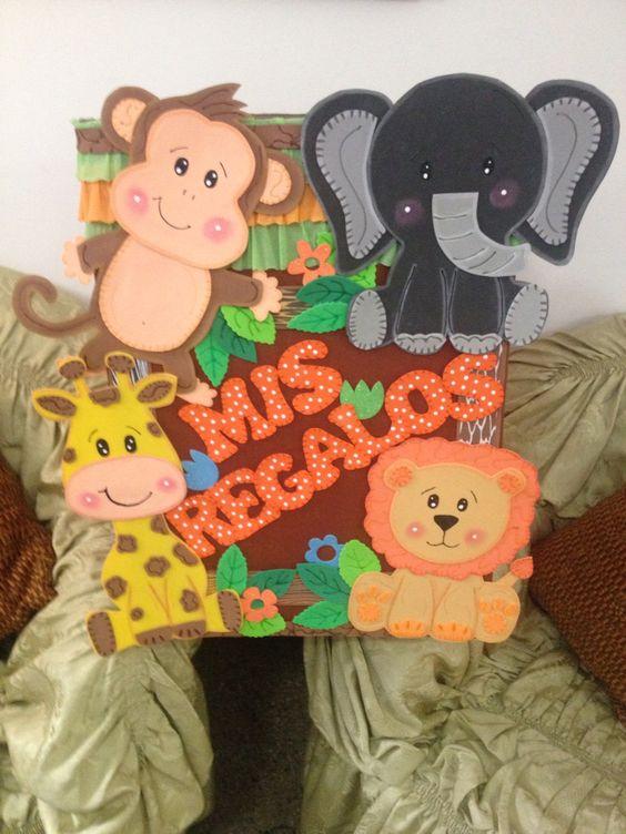 baby shower safari caja de regalos hecho por mi pinterest baby