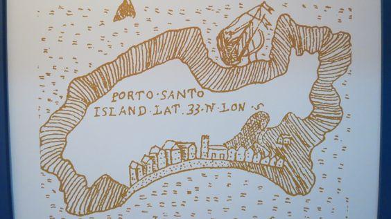 Isla de Porto Santo, mappa del 1500