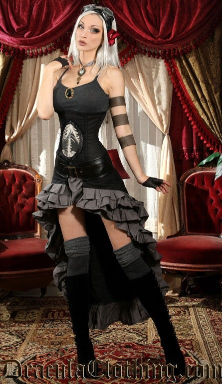 Black and Grey Vex Skirt - Skirts And Pants - Ladies Clothing