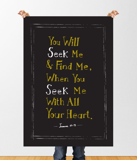 Seek Me & Find Me With All Your Heart from Shannon via Dribbble