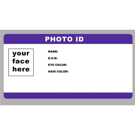 Blank ID Card Template PhotoID template by RookstocK is an ultra - blank card template
