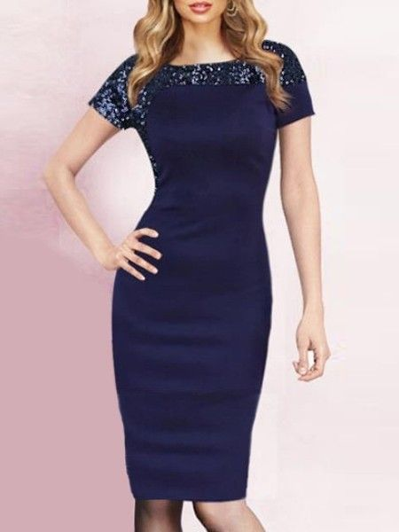 Charming  Paillette With Zips Patchwork Bodycon-dress Bodycon Dresses from fashionmia.com