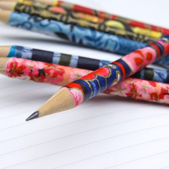 This is a fun back to school idea--cover pencils in paper or fabric and modpodge! #papermateBTS