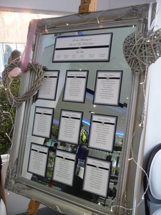 Mirrored Table Plan