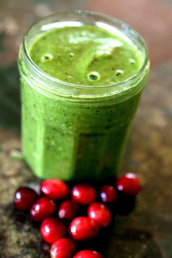 Green Smoothie With Cranberries | Quick & Easy Healthy Recipes!