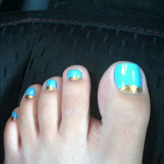 My new toes! The blue us actually darker than in this pic..