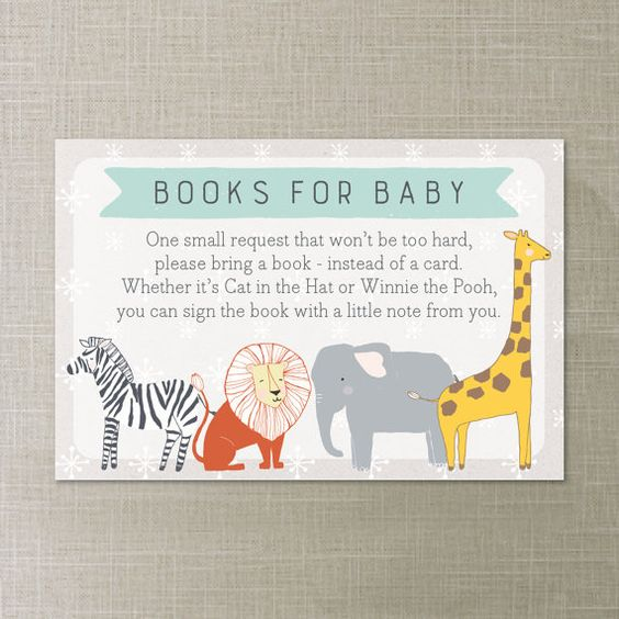 books for baby please bring a book instead of a card baby shower