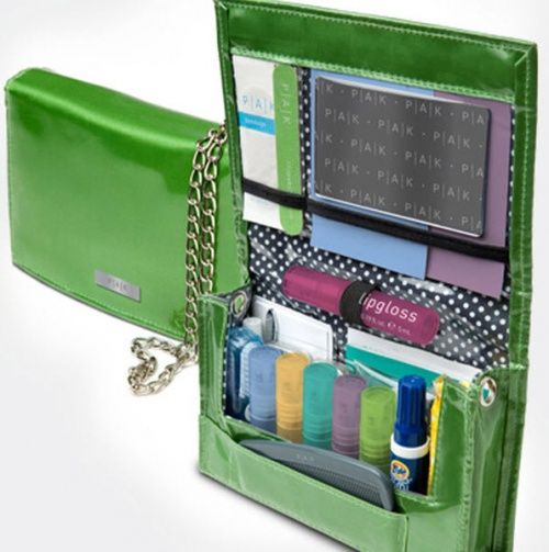 The Perfect Holiday Gift!  Its more than a first aid kit or and emergency kit.  PAK Organizes your essentials in your purse.  Its a glamorous high fashion beauty wallet.  What a great accessory! www.thepakstore.com