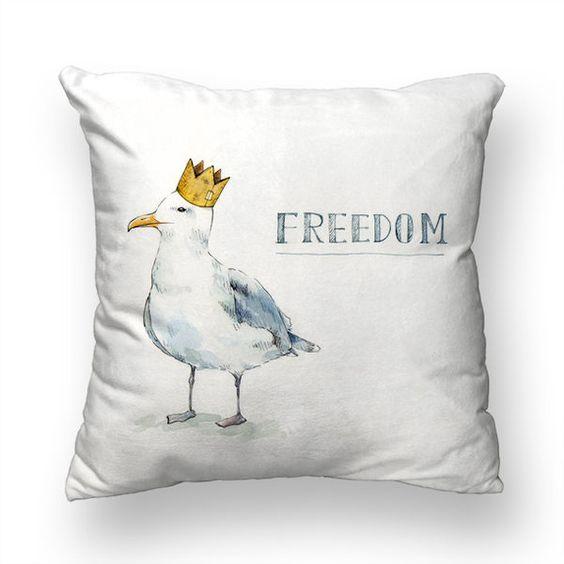 插畫 微光分子【 擁抱枕】自由鳥