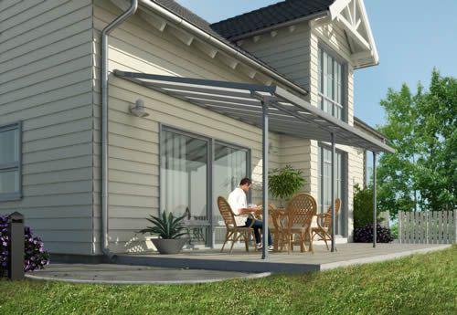 Palram 10x20 Feria Patio Cover Kit Gray Outdoor Pergola Building A Pergola Covered Pergola