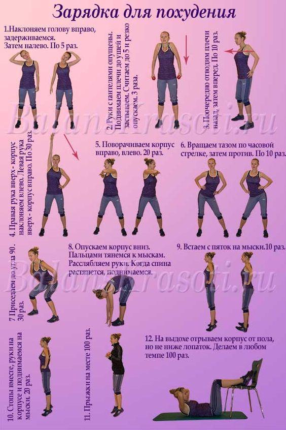 Комплекс упражнений для похудения живота ног бедер