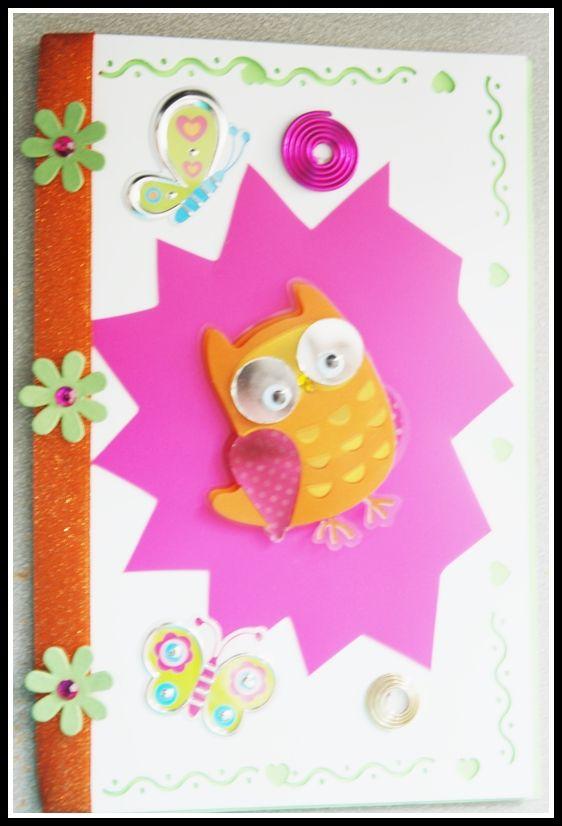 Owl card  for hospitalized children.