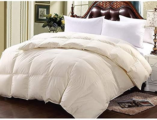 Yaxds Duvet Quilt 95 White Goose Down 100 Cotton Anti Dust Mite Amp Down Proof Fabric Anti Allergen Washable At Home Winte Quilted Duvet Dust Mites Home