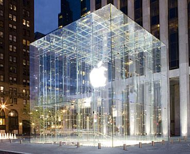 Apple Store New York City Fifth Avenue And Fifty Ninth Street Architecture Jobs Storefront Design Visual Merchandising