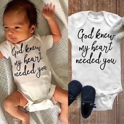 US Seller Cute Newborn Baby Boys Girls Romper Jumpsuit Bodysuit Clothes Outfits