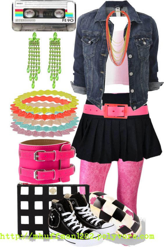 """80's Flashback 3"" by mhuffman1282 ❤ liked on Polyvore:"