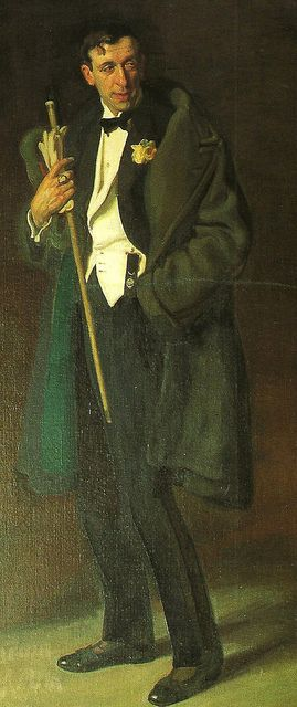 Portrait of Guido Caprotti, by  José MarÃa López Mezquita (Spanish 1883-1954).....Caprotti (1887 - 1966 ) was an Italian painter who settled in Ávila, Spain. Apparently, a heavy snowfall had forced him to stop there, and he loved the city so much he stayed for the rest of his life, living in the sixteenth century Superunda Palace.....lucky him....