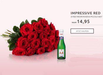 Miflora: 20 roten Rosen plus Piccolo für 19,90 Euro mit Lieferung https://www.discountfan.de/artikel/technik_und_haushalt/miflora-20-roten-rosen-plus-piccolo-fuer-19-90-euro-mit-lieferung.php Bei Miflora gibt es ab sofort einen Strauß aus 20 roten Rosen inklusive einem Piccolo-Sekt für 19,90 Euro inklusive Versand – das Angebot gilt nur solange Vorrat reicht. Miflora: 20 roten Rosen plus Piccolo für 19,90 Euro mit Lieferung (Bild: Miflora.de) Die 20 roten Rosen in