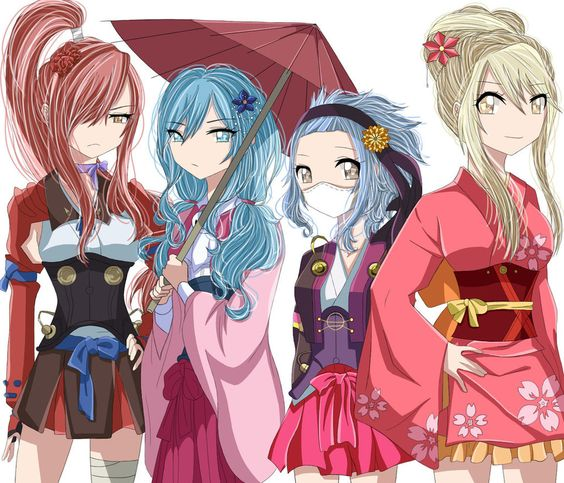 Fairy Tail Girls X Kabaneri z pevnosti železa snowycarousel