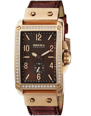 Brera Orologi  Watches(Francesca)  Italian rose gold with diamonds....Beautiful! Face $620.