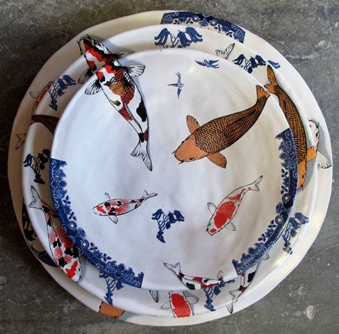 Khoi and willow dinner set: