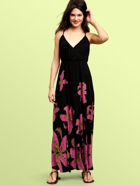 gap: Floral Maxi Dress, Summer Dresses, Maxie Dresses, Maxidress Ideas, Cute Maxi Dress, Gap Stationsummeron, Black Maxi Dresses, Maxi Gap