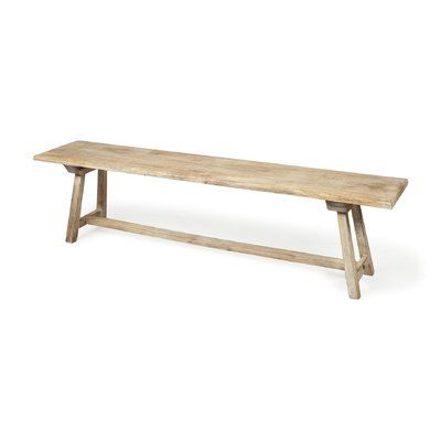 Millwood Pines Zoie Travis Wood Bench Wood Bench Furniture Bench Furniture