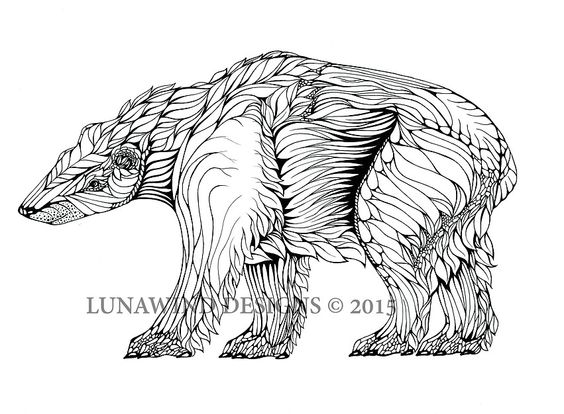 whimsical bear coloring pages - photo#30