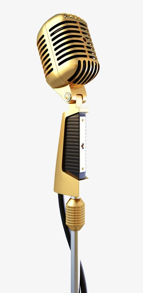 Golden Microphone Station Microphone Product Kind Golden Png Transparent Clipart Image And Psd File For Free Download Microphone Clip Art Png