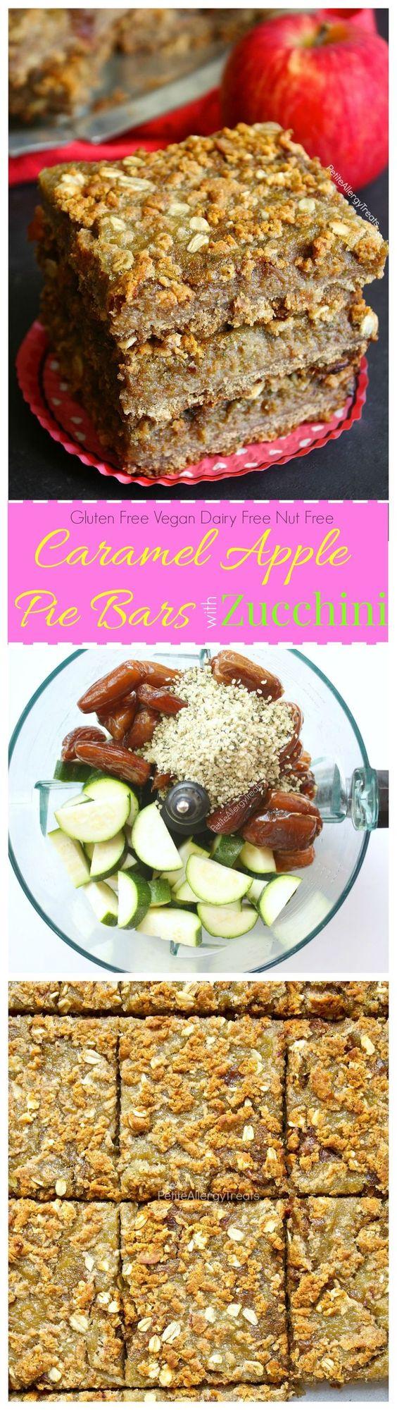 Gluten Free Caramel Apple Pie Bars Recipe (vegan dairy free)- Apple pie meets…: