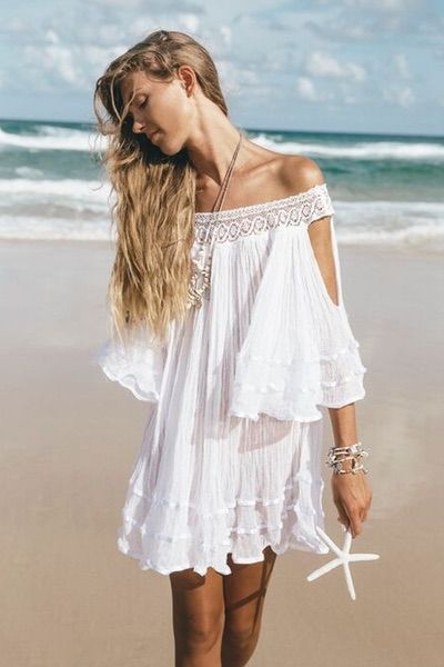 cabo gypsy white boho dresses bohemian dresses www. Black Bedroom Furniture Sets. Home Design Ideas