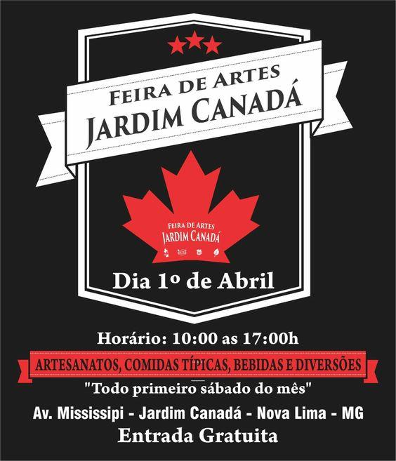 Feira de Artes Jardim Canadá Nova Lima, venha e traga seu familiares e amigos
