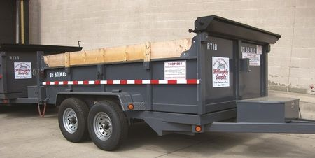 Willoughby Supply Disposal Containers - 10 yd trailer pictured here. 12, 15, 20, 30 and 40 yd containers also available.