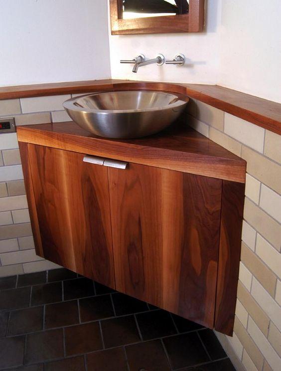 Genius Sink Options For Small Bathrooms Small Bathroom Vanities Small Bathroom Solutions Corner Bathroom Vanity