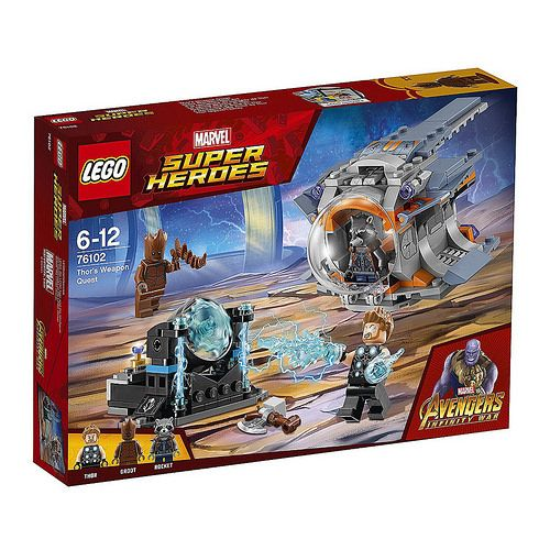 Lego Super Heroes Marvel Avengers Infinity War Thor/'s Weapon Quest 76102 NEW