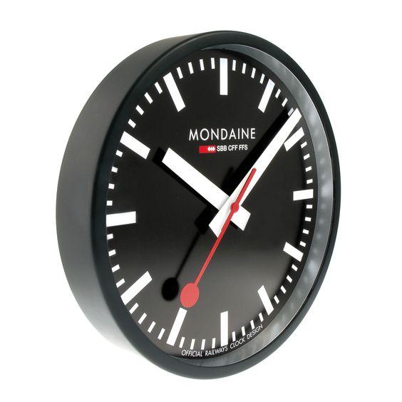 Wall Clock 25 Cm Black Kitchen Clock A990 Clock 64sbb Clock Mondaine Wall Clock Wall Clock