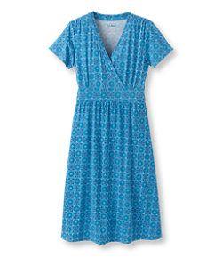 #LLBean: Summer Knit Dress, Short-Sleeve Medallion Print